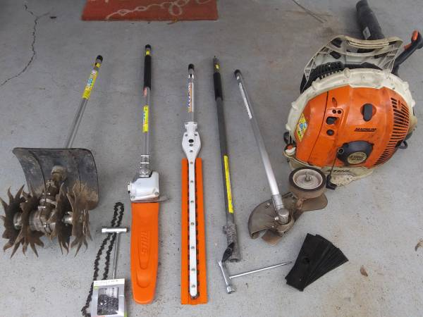 Photo Stihl Kombi Attachments Pole saw, Cultivator, Hedge trimmer, edger - $600 (Mobile)
