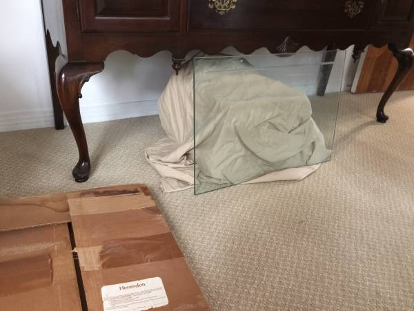 Photo Two Henredon Glass Shelves - $40 (Montrose)