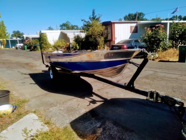 Photo 14 ft polished aluminum boat - $3,000 (sonora)