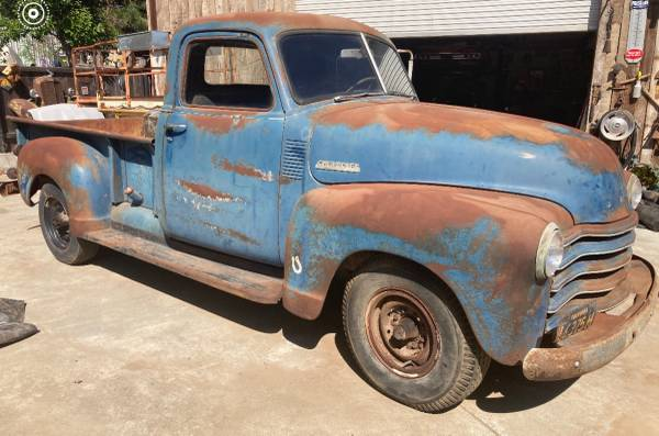 Photo 1949 Chevy Pickup Barn Find Runs - $6,900 (Oakdale)