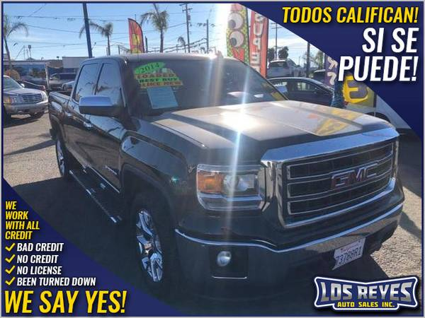 Photo 2014 GMC Sierra 1500 Crew Cab SLT Pickup 4D 5 34 ft (- All Credit Accepted - Approval in Minutes)