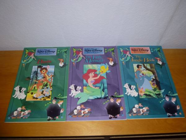 Photo 3 Walt Disney Treasure Chest BooksBambiLittle MermaidJungle Book - $20 (healdsburg  windsor)