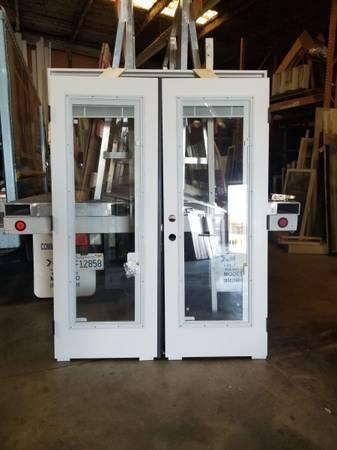 Photo 512 Double French Doors Interior Blinds - $875 (Modesto)