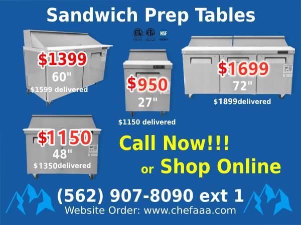 Photo 7NSF 27486072 Refrigerated Salad Sandwich Prep Table (Restaura - $950 (Brand New)
