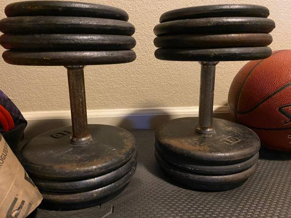 Photo FS 75 lbs Dumbbells Great Condition - $300 (Modesto)