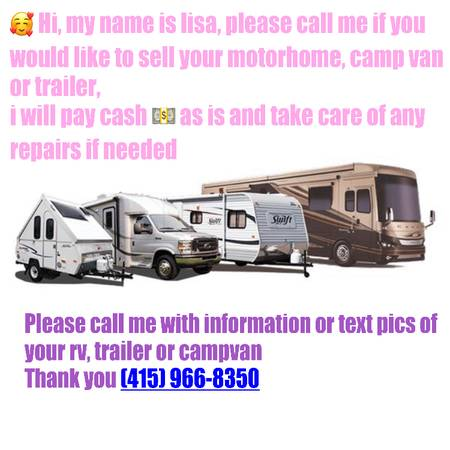 Photo I will buy your Trailer or Rv as is - I go to your location