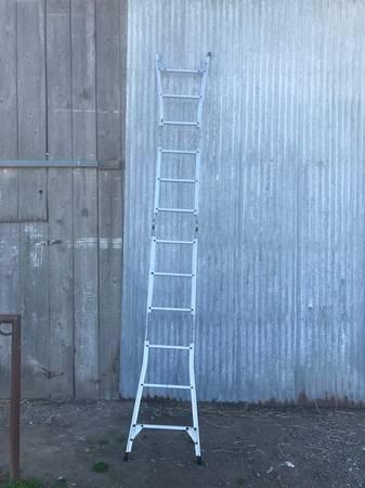 Photo Ladder 12 ft. folding - $65 (Hilmar)