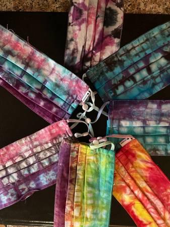 Photo Tie Dye Masks -handmade - $7 (Modesto)
