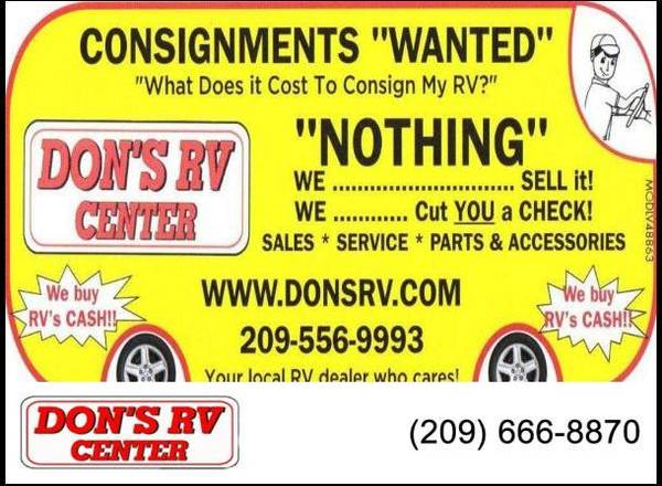 Photo WE WILL BUY OR PAYOFF YOUR RV TODAY (Don39s RV, Ceres)