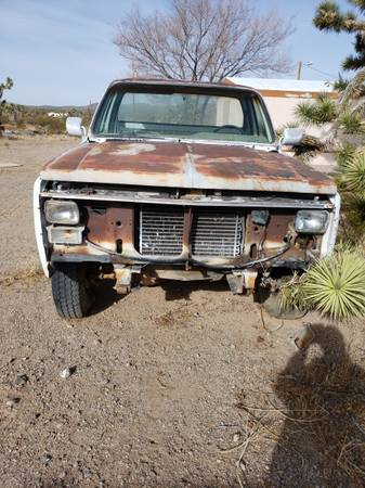 Photo 1986 chevy c10 chassis and cab - $3,000 (dolan springs)