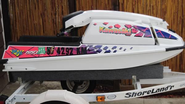 Photo 1994 Kawasaki 550 SX with full size trailer - $2,500 (Lake Havasu City)
