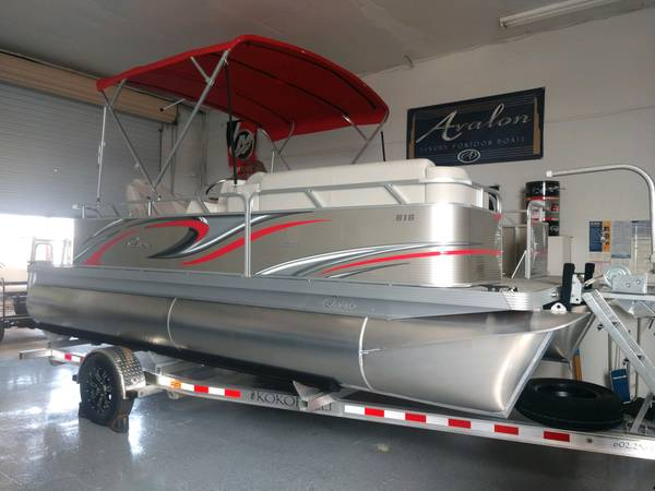 Photo 2021 Qwest Edge 1839ft Pontoon Boat with 75hp Honda  Aluminum Trailer - $32,950 (Germaine Marine  Got Water Marine)