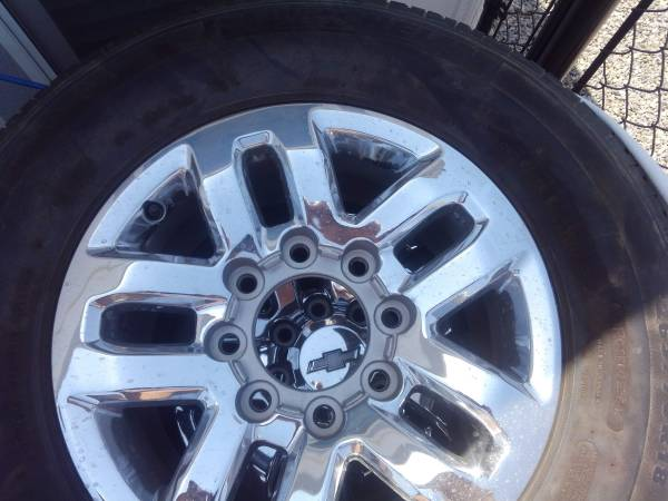 Photo 4 chevy 8 lug wheels with tires - $375 (Fort Mohave)