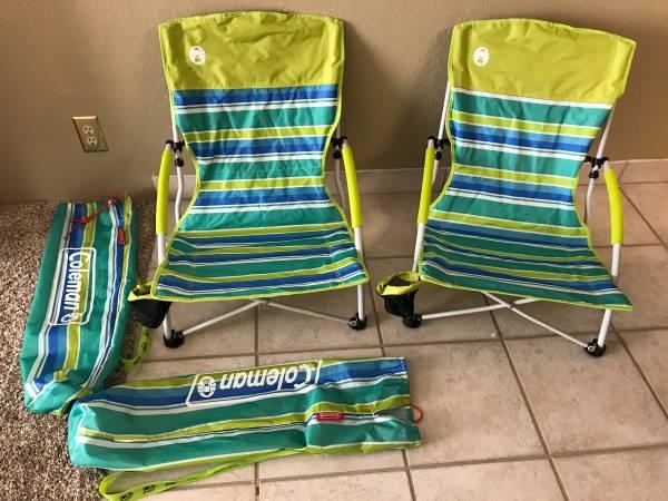 Photo Coleman Beach Chairs - $30 (Lake Havasu City)