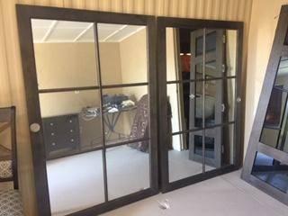 Photo Doors barn doors Rv closet mirrors - $100 (Havasu)