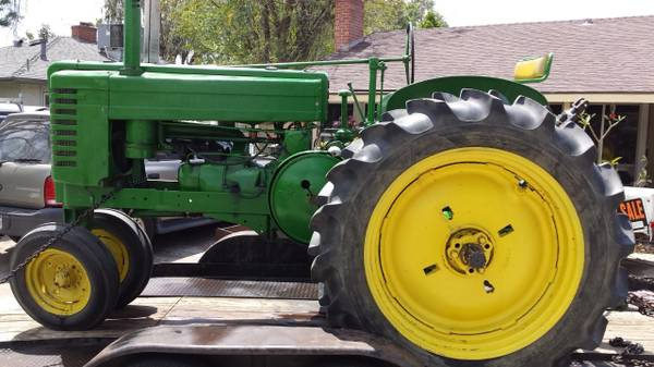 Photo John Deere Model G tractor - $3500 (kingman)