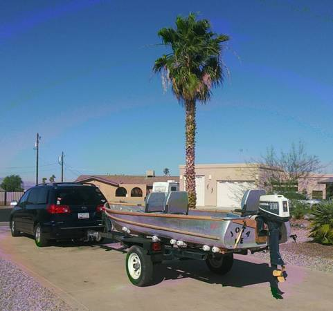 Photo Larson 1639 Aluminum Fishing Boat with Honda 100cc 4stroke - $1,495 (Lake Havasu City)
