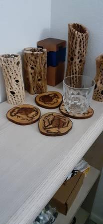 Photo Lichtenberg Fractal Burn Mesquite wood Coasters - $25 (Lake Havasu City)