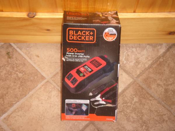 Photo NEW black and decker 500 watt power inverter - $45 (Bullhead City)