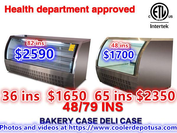 Photo NSF 3648566074 Glass SS Bakery Display Case - $980 (100 new)
