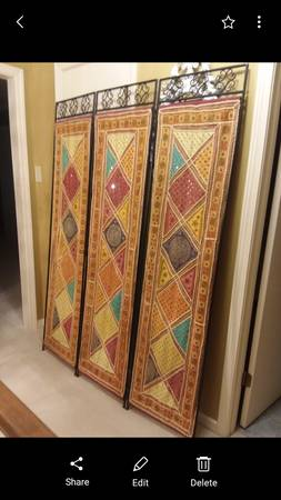 Photo Pier One room divider and assorted tables (Calhoun)