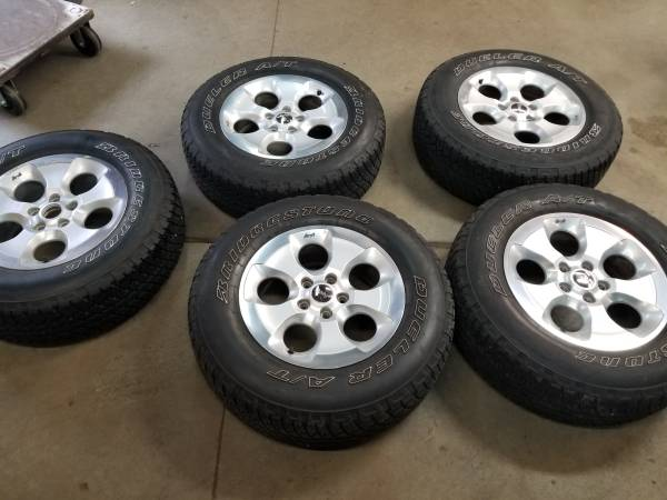 Photo 5 Factory 18 inch jeep wrangler wheels and tires - $350 (Westland)