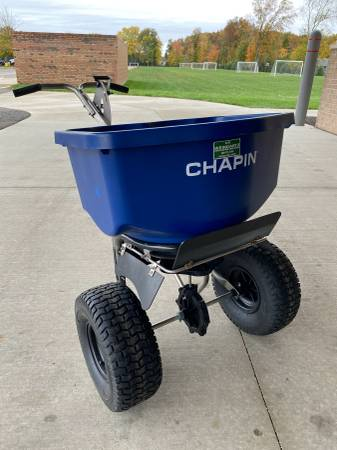 Photo Chapin Commercial Stainless Steel Salt Fertilizer Spreader - $220 (Shelby Township)
