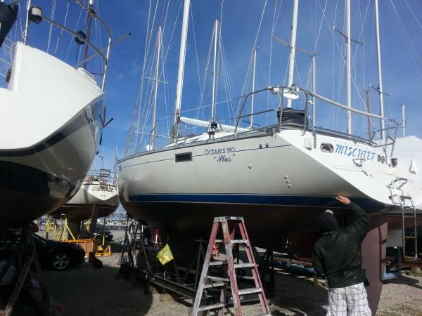 Photo Custom Sailboat Yacht Cradle - $500 (Monroe, Michigan)