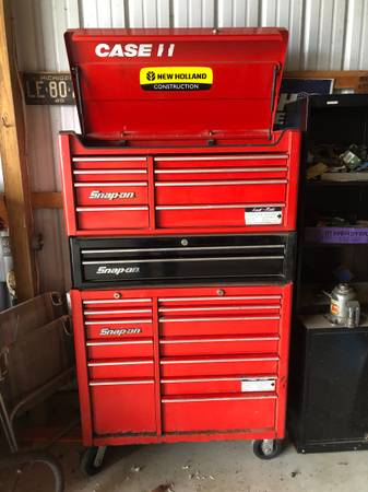 Photo Snap-On tool box (top  mid  bottom) - $2,500 (Maybee)
