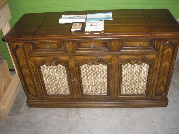 Photo Vintage Zenith Allegro 4 channel Console Stereo Sound System Wood - $100 (Flint)