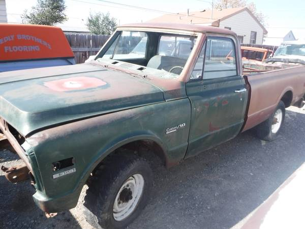 Photo 1969 CHEVY K20 4x4 PROJECT TRUCK - $2,500 (Powell, WY)