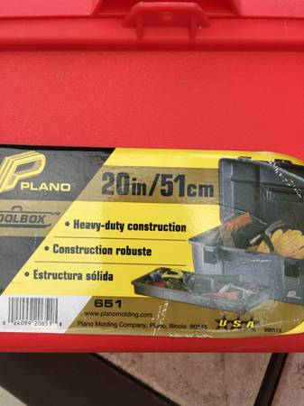 Photo Plano 20quot Tool Box with Lift Out Tray - $15 (rapid city west side)