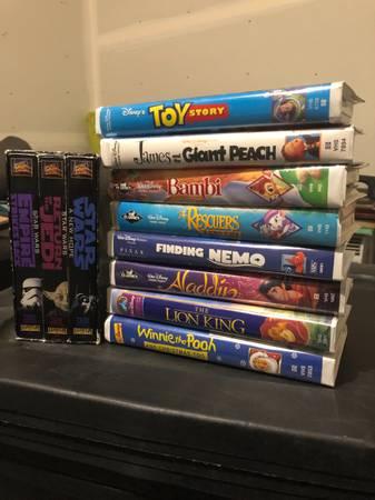 Photo Star Wars  Disney VHS - $80 (West end)