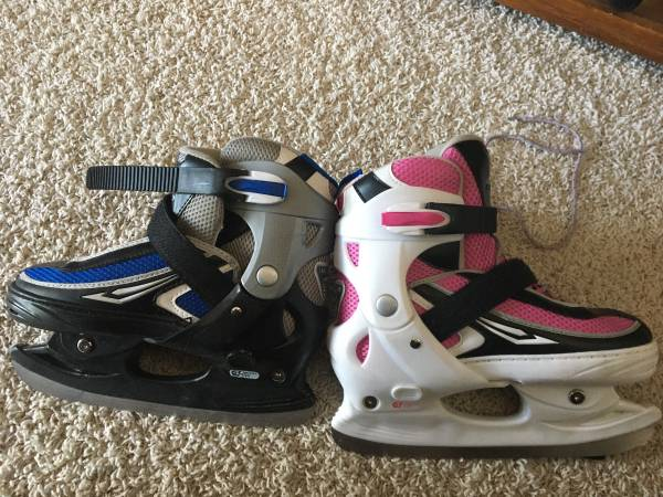 Photo Youth size adjustable ice skates. - $20 (Billings)