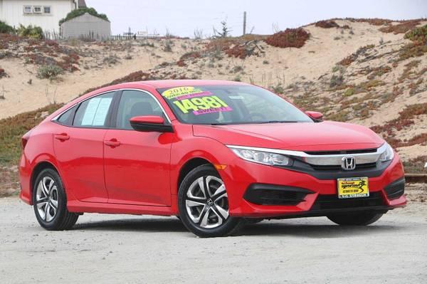 Photo 2016 Honda Civic Sedan Red Call Now..Priced to go - $14,981 (Seaside)