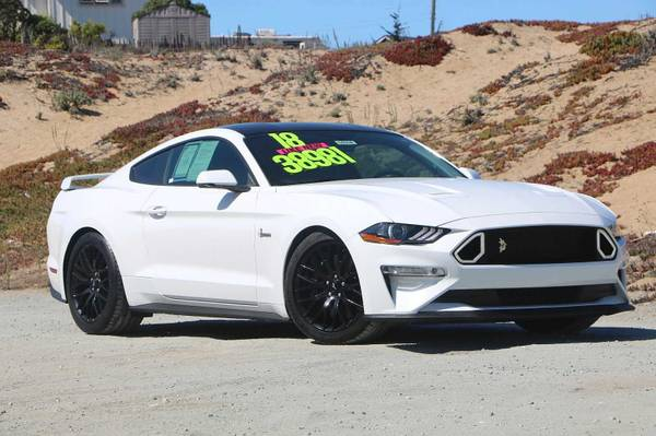 Photo 2018 Ford Mustang White Call Now and Save Now - $38,981 (Seaside)