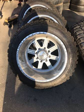 Photo American force wheels 20x14 on 33x12.50r20 mud tires 8x180 - $3300