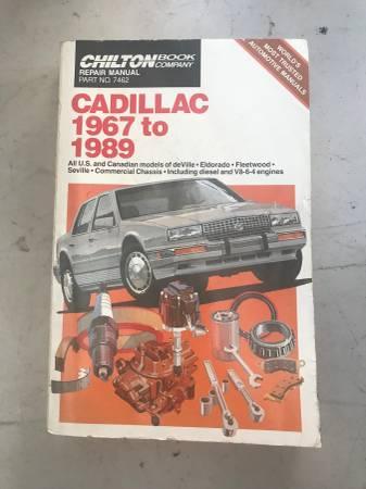 Photo Cadillac 1967 to 1989 repair manual - $20 (Salinas)