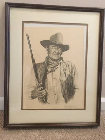 Photo John Wayne numbered series - $95 (Hollister)