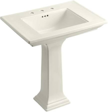 Photo KOHLER K-2269 Memoirs Pedestal Bathroom Sink - $645 (Seaside)