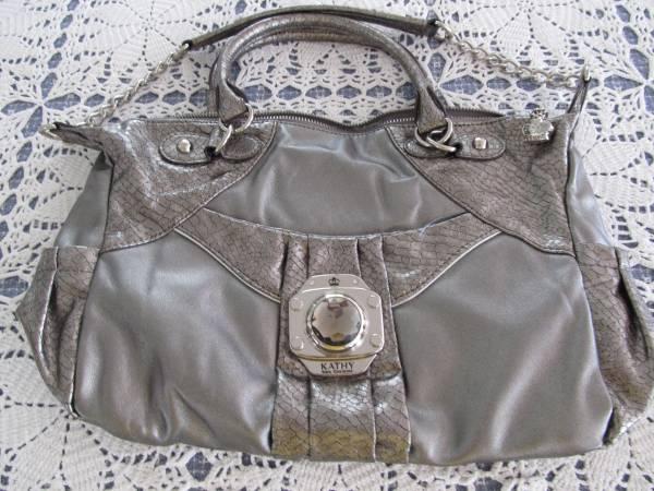 Photo Kathy Van Zeeland Pewter Handbag New - $25 (Santa Cruz)