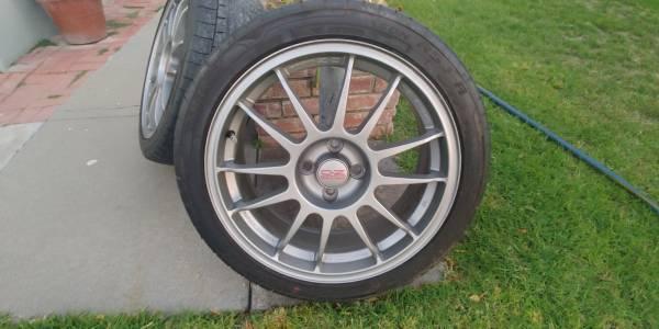 Photo OZ Racing. 17quot 4 lug 4-100 Wheels, 205-45R17 Cooper tires - $320 (Salinas)