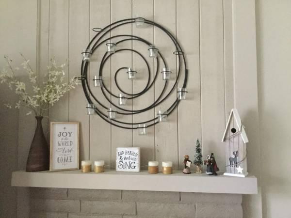 Photo Pottery Barn Hanging Spiral Iron Votive Candle Holder Wall Art Decor - $100 (Morgan Hill)