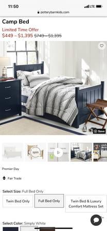 Photo Pottery barn twin bedroom set - $550 (Prunedale)