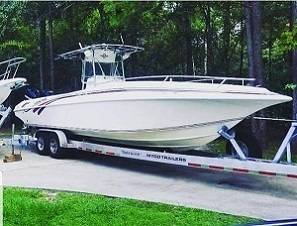 Photo 1996 Fountain 31 CC OPEN BOW 1996 Meticulously maintained With Lowran - $23170 (With Trailer)