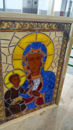 Photo Beautiful Large Antique Madonna and Christ Child Stained Glass Panel - $400 (VESTAVIA  Birmingham)