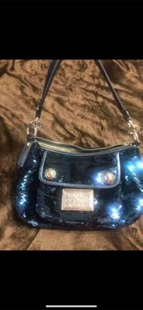 Photo Blue Coach Limited Edition Poppy Groovy Sequin Crossbody Shoulder Bag Comes With - $125 (Helena)