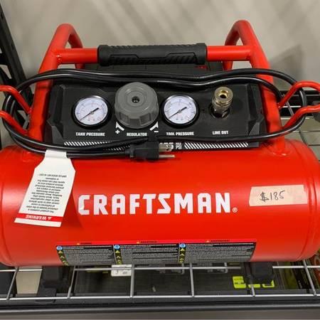 Photo New. Craftsman 3 gal. Horizontal Portable Air Compressor - $185 (auburn)