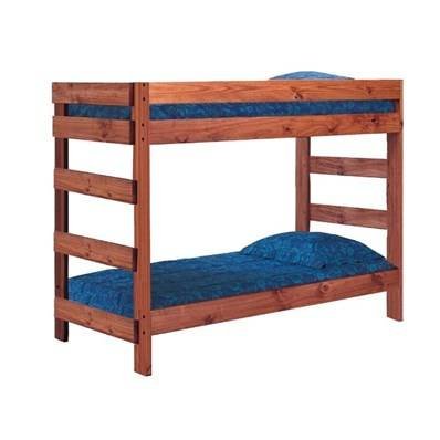 Photo twin over twin wood bunk bed. MADE in ALABAMA - $189 (620 N Perry St)