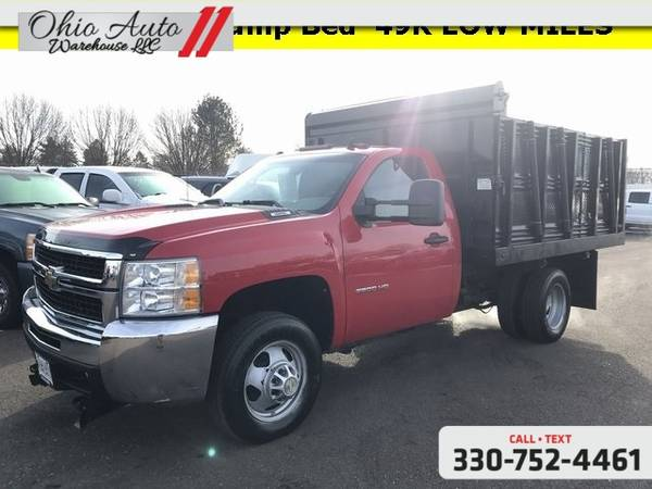 Photo 2010 Chevrolet Silverado 3500HD Work Truck 4x4 Dump Bed Snow Plow 49K - $22583 (Easy Financing - (330) 752-4461)